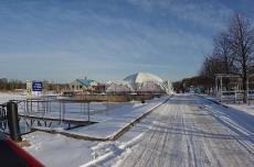 Яхт-клуб зимой